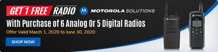Get 1 Free Radio with Purchase of 6 Analog Or 5 Digital Radios