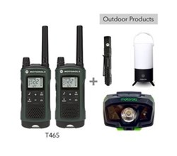 Recreational Radio Bundles motorola t465 bundle with lumo lantern flashlight and headlamp
