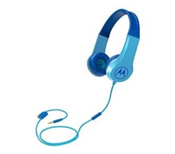 Wired / Wireless Headsets motorola squads 200 kids wired headphones blue